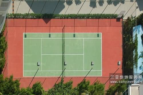 三亚丽湾风景度假屋-碧海蓝天小区网球场